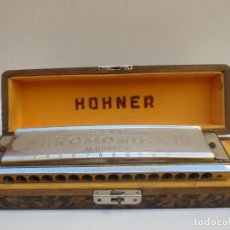 Instrumentos musicales: ARMÓNICA LARGE HOHNER CHROMONIKA III, CON SU CAJA ORIGINAL - MADE IN GERMANY - . Lote 184218742