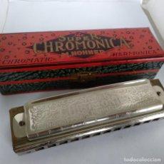 Instrumentos musicales: ANTIGUA ARMONICA CHROMATIC *THE SUPER CHROMONICA* DE HOHNER FABRICADA EN ALEMANIA - .. Lote 184296721