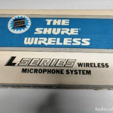 Instrumentos musicales: MICROPFHONE INALAMBRICO SYSTEM MARCA *SHURE* MADE IN U.S.A. PROFESIONAL.. Lote 184488223