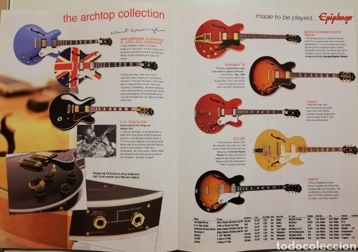 Instrumentos musicales: EPIPHONE Catálogo Guitarras 2004 - Foto 2 - 184641455
