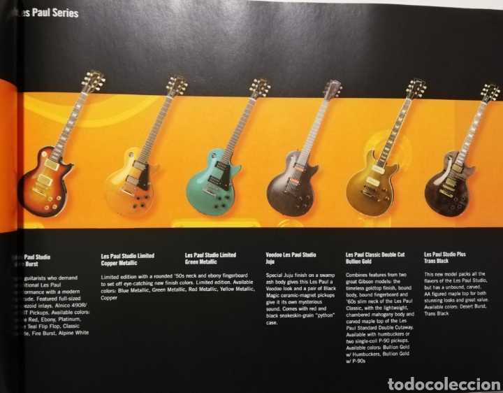 Instrumentos musicales: GIBSON Catálogo de Guitarras 2004 - Foto 4 - 184642478