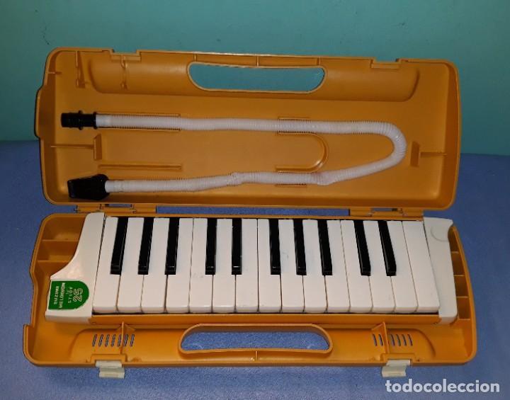 INSTRUMENTO MELODICA MUSICAL MELODION SUZUKI STUDY 25 CON SU MALETIN FUNCIONA AÑOS 70 ORIGINAL (Música - Instrumentos Musicales - Pianos Antiguos)