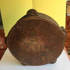 Instrumentos musicales: ANTIGUA PANDERETA (MADERA, PIEL Y SONAJAS DOBLES DE METAL) 1950'S. ORIGINAL. ¡COLECCIONISTA!. Lote 186142946