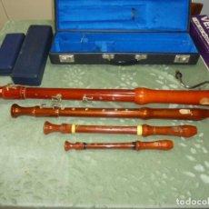 Instrumentos musicales: FLAUTAS BAJO,TENOR,ALTO Y SOPRANO. Lote 186394737