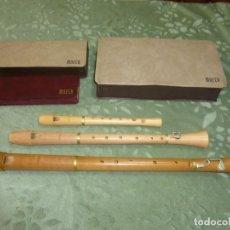 Instrumentos musicales: FLAUTAS MOECK TENOR,ALTO Y SOPRANO. Lote 186395100