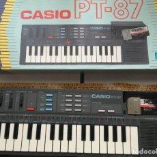 Instrumentos musicales: PIANO CASIO CASIOTONE PT87 PT-87 JAPAN OK CON CAJA KREATEN FUNCIONANDO. Lote 186443630