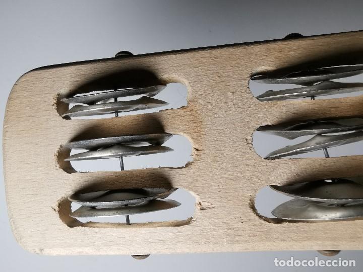 Instrumentos musicales: INSTRUMENTO MUSICAL MADERA ,sonajero sonaja sambina platillos años 60 - Foto 11 - 187245735