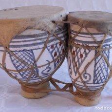 Instrumentos musicales: PAREJA DE TAMBORES DE MARRUECOS. Lote 187327110