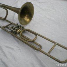 Instrumentos musicales: TROMPETA ALEMANA - DECORACIÓN O REPARACIÓN - ANTIGUA. Lote 187391182