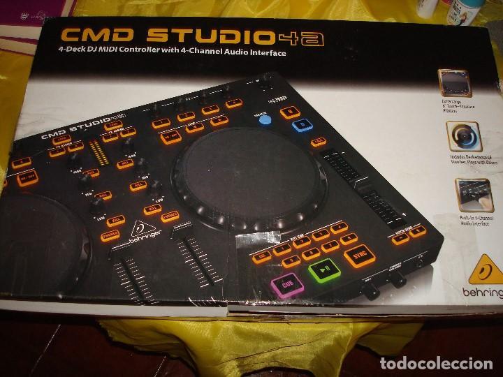 DJ CONTROLLER CMD STUDIO 4A. 4 DECK DJ MIDI CONTROLLER 4 CHANNEL AUDIO INTERFACE (Música - Instrumentos Musicales - Teclados Eléctricos y Digitales)