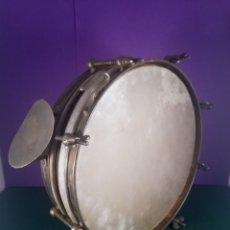 Instrumentos musicales: TAMBORIL, TAMBOR DE LATÓN ACOMPAÑANTE A LA DULZAINA. Lote 189395771