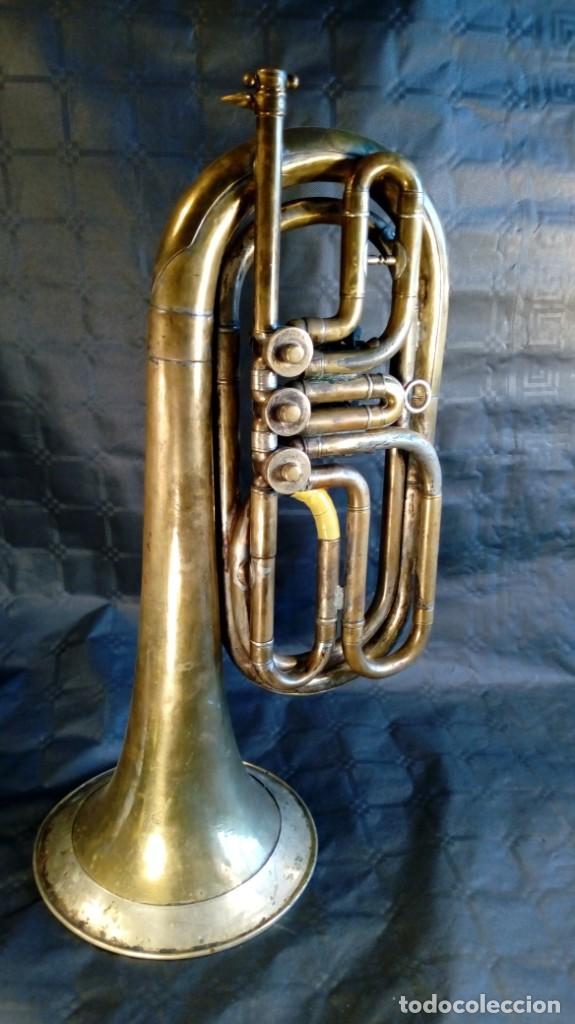 TROMPETA CARL AUGUST SCHUSTER.MARKNEUKIRCHEN. MANUFACTURA DE 1830 – 1864. ALEMANIA. (Música - Instrumentos Musicales - Viento Metal)