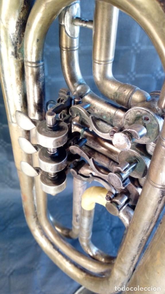 Instrumentos musicales: TROMPETA CARL AUGUST SCHUSTER.MARKNEUKIRCHEN. MANUFACTURA DE 1830 – 1864. ALEMANIA. - Foto 9 - 189402333