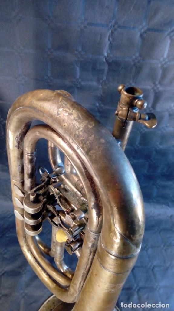Instrumentos musicales: TROMPETA CARL AUGUST SCHUSTER.MARKNEUKIRCHEN. MANUFACTURA DE 1830 – 1864. ALEMANIA. - Foto 10 - 189402333