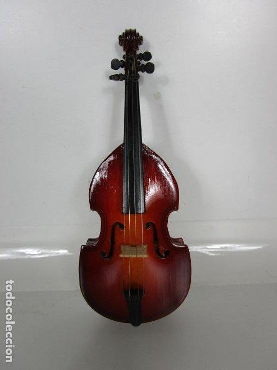 Instrumentos musicales: Violonchelo Miniatura - Instrumento de Cuerda - Madera - con Estuche - Violonchelo - 16 cm Altura - Foto 5 - 189605253
