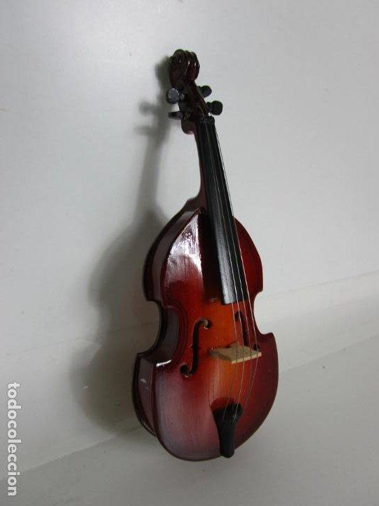 Instrumentos musicales: Violonchelo Miniatura - Instrumento de Cuerda - Madera - con Estuche - Violonchelo - 16 cm Altura - Foto 6 - 189605253