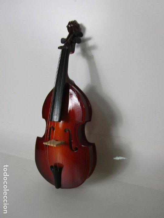 Instrumentos musicales: Violonchelo Miniatura - Instrumento de Cuerda - Madera - con Estuche - Violonchelo - 16 cm Altura - Foto 8 - 189605253
