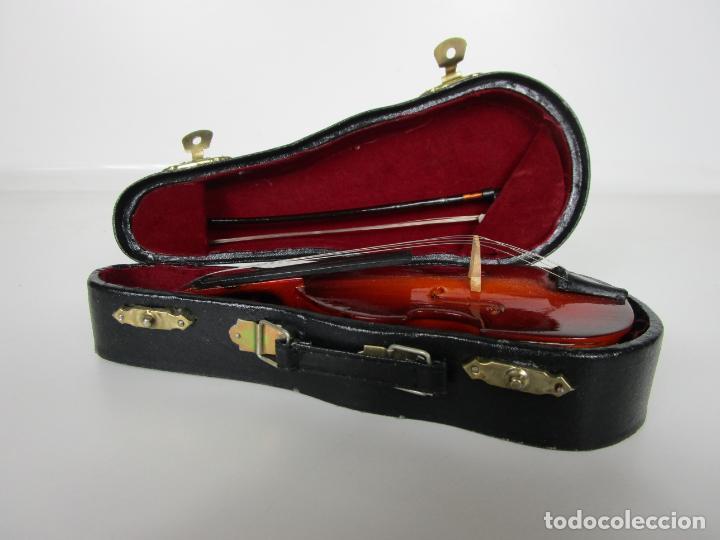 Instrumentos musicales: Violonchelo Miniatura - Instrumento de Cuerda - Madera - con Estuche - Violonchelo - 16 cm Altura - Foto 11 - 189605253