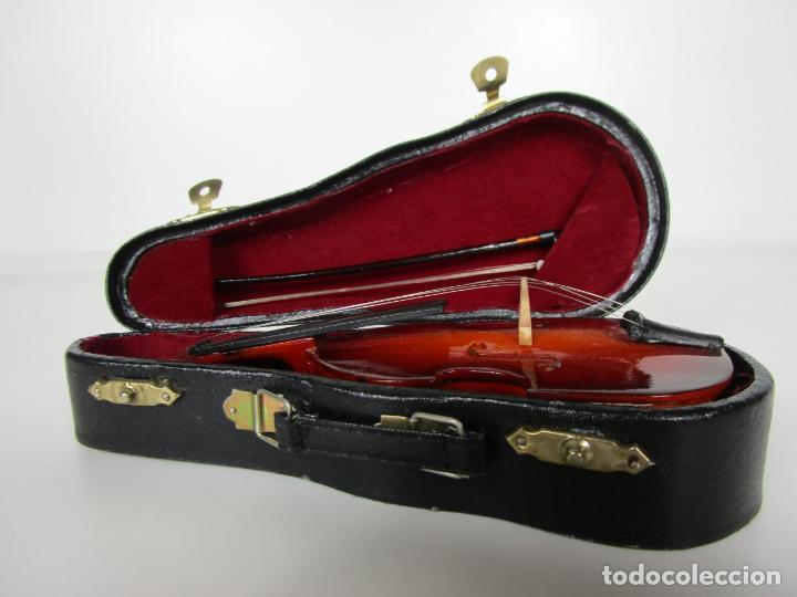 Instrumentos musicales: Violonchelo Miniatura - Instrumento de Cuerda - Madera - con Estuche - Violonchelo - 16 cm Altura - Foto 14 - 189605253