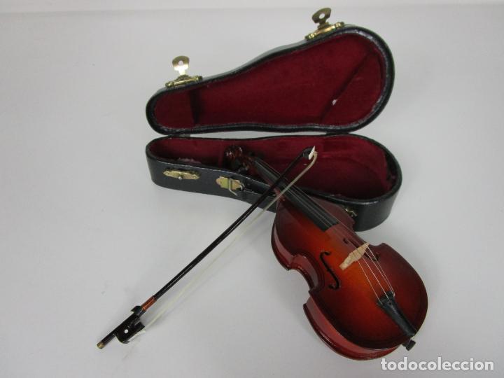 Instrumentos musicales: Violonchelo Miniatura - Instrumento de Cuerda - Madera - con Estuche - Violonchelo - 16 cm Altura - Foto 15 - 189605253