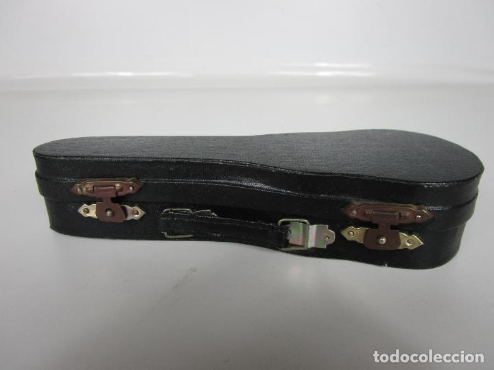 Instrumentos musicales: Guitarra Eléctrica Bajo, Miniatura - Madera - con Estuche - Guitarra Bajo 16 Altura - Foto 13 - 189605803