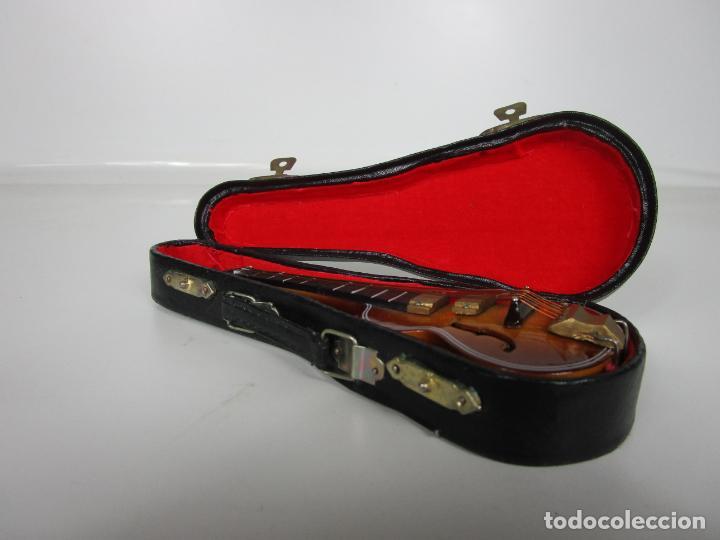 Instrumentos musicales: Guitarra Eléctrica Bajo, Miniatura - Madera - con Estuche - Guitarra Bajo 16 Altura - Foto 16 - 189605803