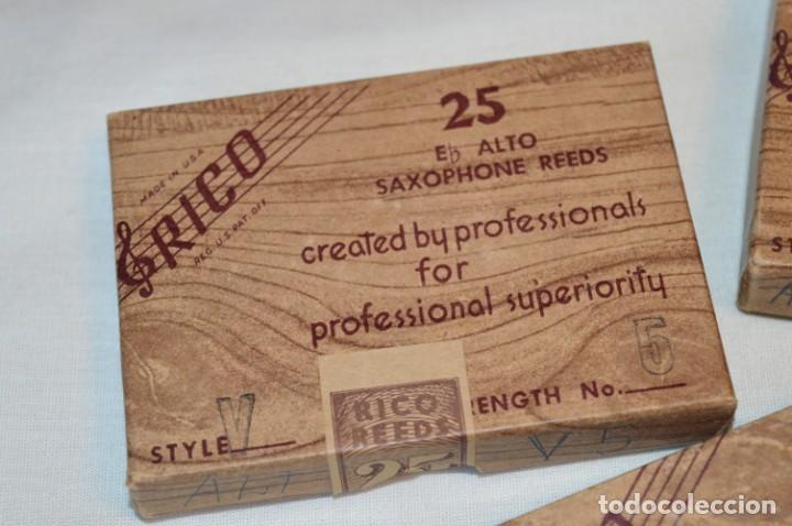 Instrumentos musicales: 23 CAÑAS DE SAXOFÓN - Eb ALTO / 8 de A1 / 7 de B1 / 8 de V5 - SAXOPHONE REEDS - RICO USA ¡Mira! - Foto 8 - 189671813