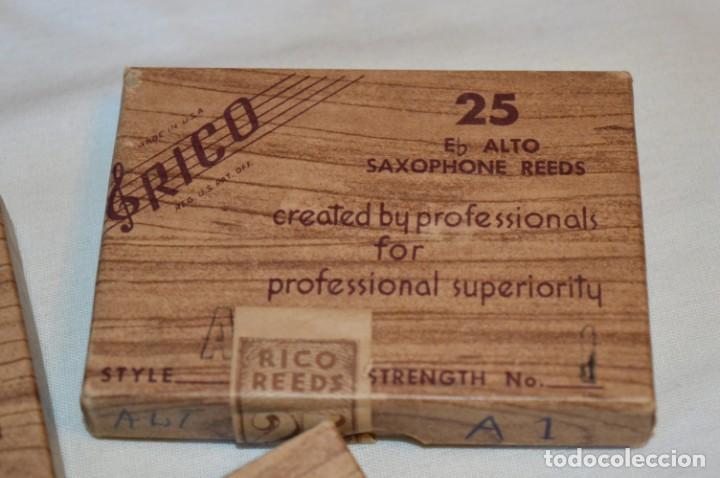 Instrumentos musicales: 23 CAÑAS DE SAXOFÓN - Eb ALTO / 8 de A1 / 7 de B1 / 8 de V5 - SAXOPHONE REEDS - RICO USA ¡Mira! - Foto 10 - 189671813