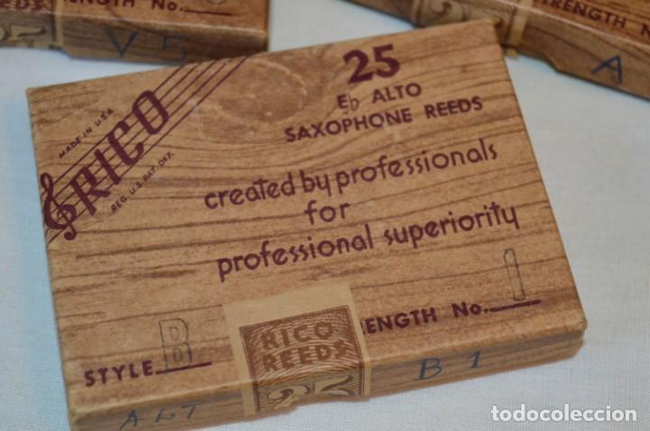 Instrumentos musicales: 23 CAÑAS DE SAXOFÓN - Eb ALTO / 8 de A1 / 7 de B1 / 8 de V5 - SAXOPHONE REEDS - RICO USA ¡Mira! - Foto 6 - 189671813