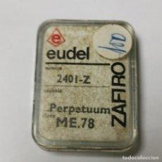 Instrumentos musicales: AGUJA TOCADISCOS EUDEL ZAFIRO - 2401-Z PERPETUUM ME.78 - NUEVA / TC-3-195. Lote 190156538