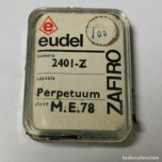 Instrumentos musicales: AGUJA TOCADISCOS EUDEL ZAFIRO - 2401-Z PERPETUUM ME.78 - NUEVA / TC-3-196. Lote 190156565