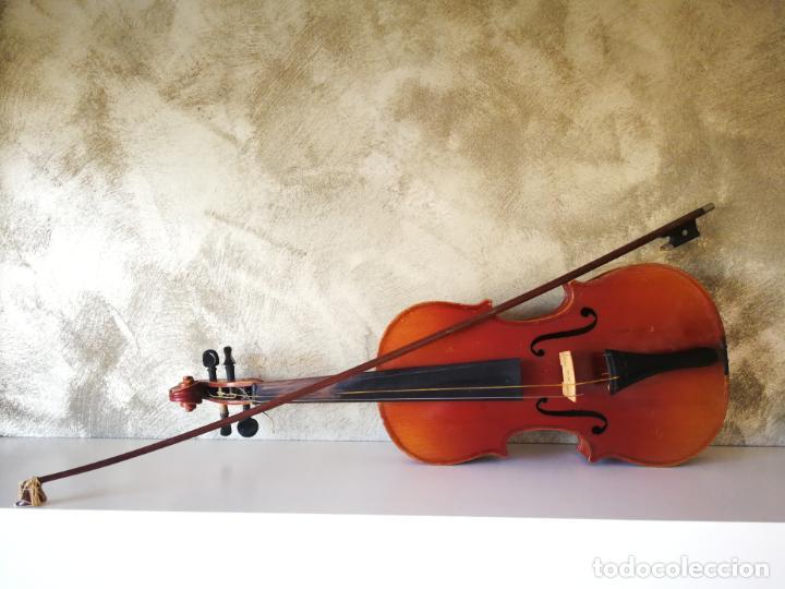 Instrumentos musicales: VIOLIN 3/4 COPY OF ANTONIUS STRADIVARIUS MADE IN GERMANY - Foto 2 - 190592682