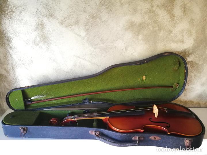 VIOLIN 3/4 COPY OF ANTONIUS STRADIVARIUS MADE IN GERMANY (Música - Instrumentos Musicales - Cuerda Antiguos)
