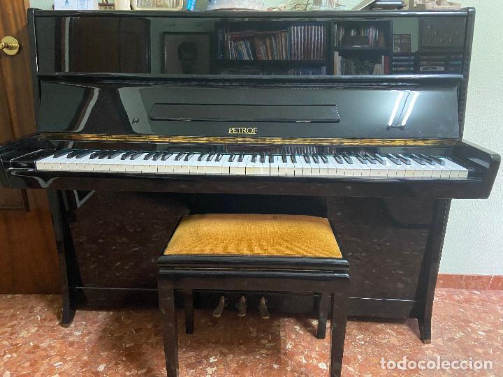 PIANO VERTICAL PETROF (Música - Instrumentos Musicales - Pianos Antiguos)