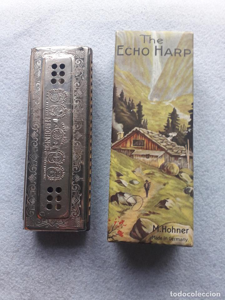 ARMÓNICA H.HONER. THE ECHO. CON CAJA ORIGINAL. MADE IN GERMANY (Música - Instrumentos Musicales - Viento Metal)