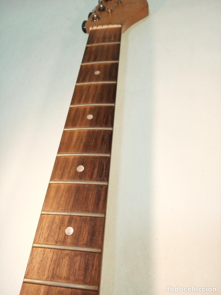 Instrumentos musicales: Mástil de guitarra eléctrica en madera de arce o similar. Recambio de guitarra. - Foto 3 - 190862988