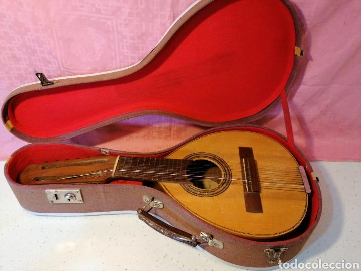 BANDURRIA CON SU MALETA (Música - Instrumentos Musicales - Cuerda Antiguos)