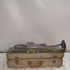 Instrumentos musicales: ANTIGUA TROMPETA CON MALETÍN PARÍS SIGLO XIX. Lote 191113877