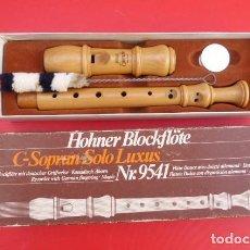 Instrumentos musicales: FLAUTA DULCE CON DISPOSICION ALEMANA DE ARCE CAUCASICO- HOHNER C-SOPRAN SOLO...AÑOS 80... Lote 191406022