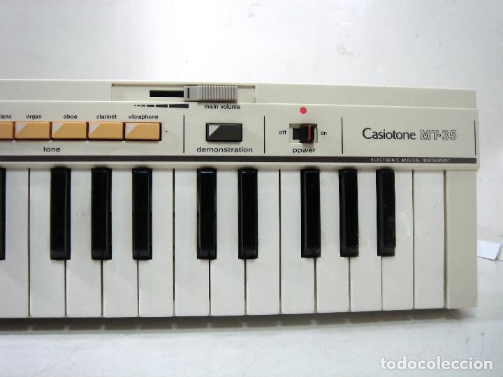 Instrumentos musicales: DIFICIL TECLADO ELECTRONICO - CASIO MT-35 JAPAN AÑOS 80 ¡¡FUNCIONANDO¡- CASIOTONE MT35 ORGANO PIANO - Foto 2 - 219378258
