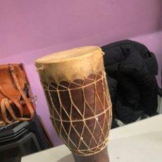 Instrumentos musicales: TAMBOR TERRACOTA ANTIGUO RARO TAPADO POR DOS LADOS - VER LAS FOTOS. Lote 192126267