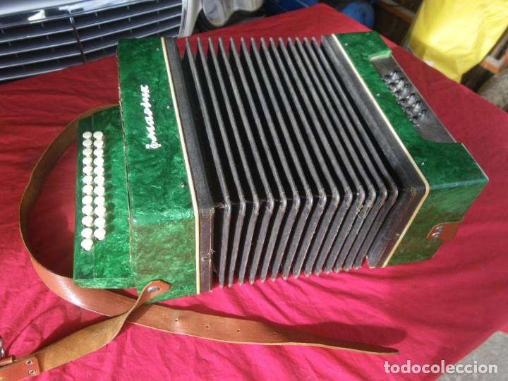 Instrumentos musicales: ANTIGUO ACORDEON FUNCIONANDO BIEN , MUY BONITO ..VER - Foto 15 - 192236988