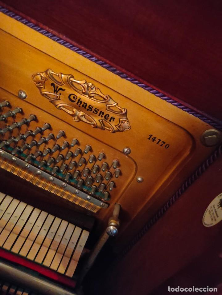 PIANO ALEMÁN W. CHASSNER (Música - Instrumentos Musicales - Pianos Antiguos)