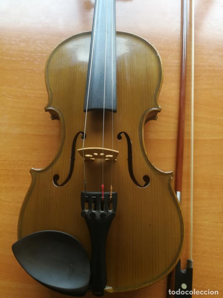 Instrumentos musicales: ANTIGUO VIOLÍN TAMAÑO 3/4 (56 CM.) MARCA NOVA ESTUDY CON SU ARCO. - Foto 2 - 192557033