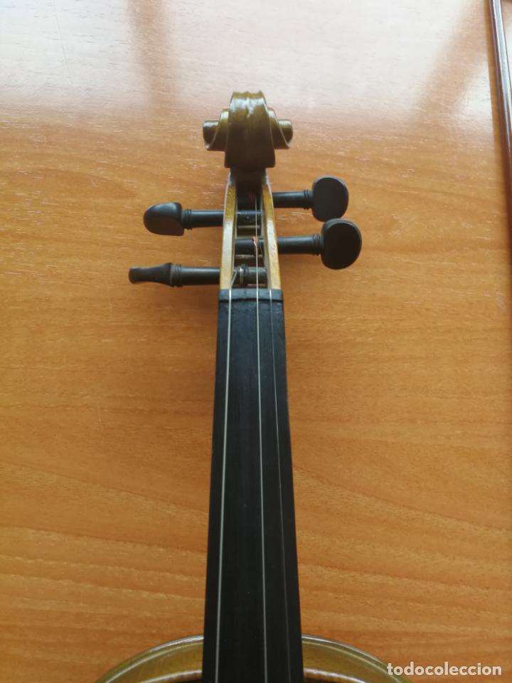 Instrumentos musicales: ANTIGUO VIOLÍN TAMAÑO 3/4 (56 CM.) MARCA NOVA ESTUDY CON SU ARCO. - Foto 3 - 192557033