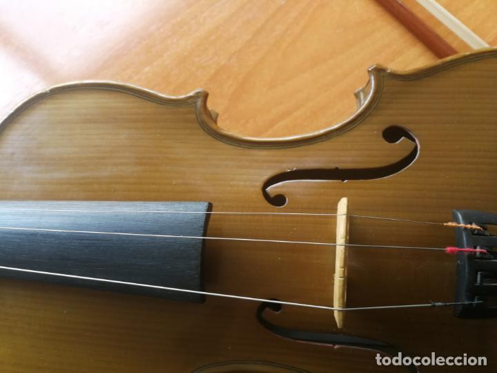 Instrumentos musicales: ANTIGUO VIOLÍN TAMAÑO 3/4 (56 CM.) MARCA NOVA ESTUDY CON SU ARCO. - Foto 8 - 192557033