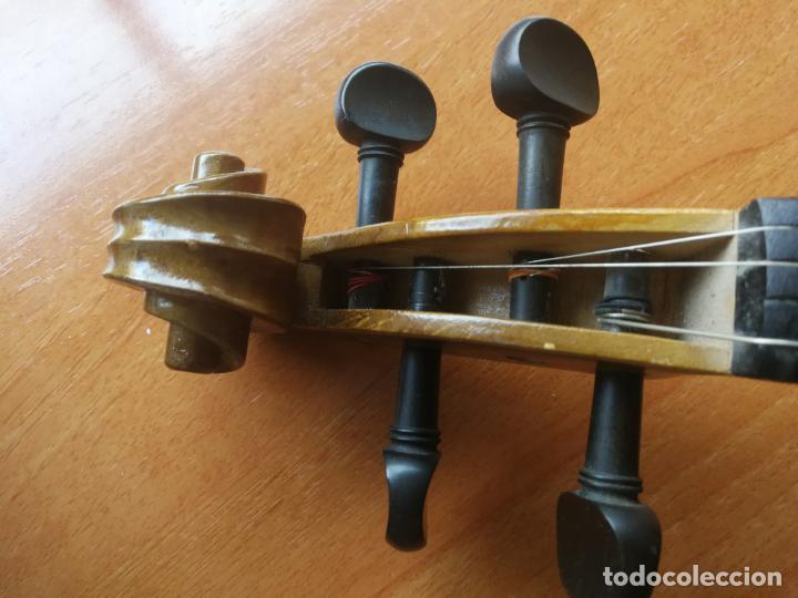 Instrumentos musicales: ANTIGUO VIOLÍN TAMAÑO 3/4 (56 CM.) MARCA NOVA ESTUDY CON SU ARCO. - Foto 9 - 192557033