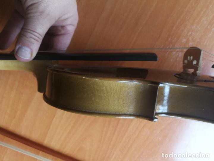 Instrumentos musicales: ANTIGUO VIOLÍN TAMAÑO 3/4 (56 CM.) MARCA NOVA ESTUDY CON SU ARCO. - Foto 11 - 192557033