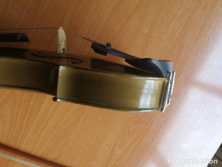 Instrumentos musicales: ANTIGUO VIOLÍN TAMAÑO 3/4 (56 CM.) MARCA NOVA ESTUDY CON SU ARCO. - Foto 12 - 192557033