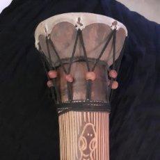 Instrumentos musicales: BONGO. MADERA. ORIGINAL AFRICA. AÑOS 80.. Lote 192728608